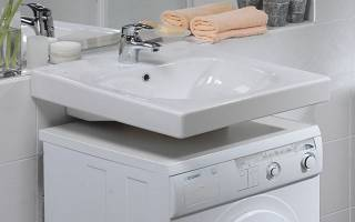 Размещение стиральной машины под раковиной