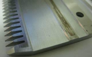 Заточка лезвий на машинке для стрижки