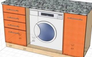 Особенности стиральных машин, встроенных под столешницу